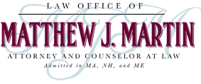 Matthew Martin Law Logo